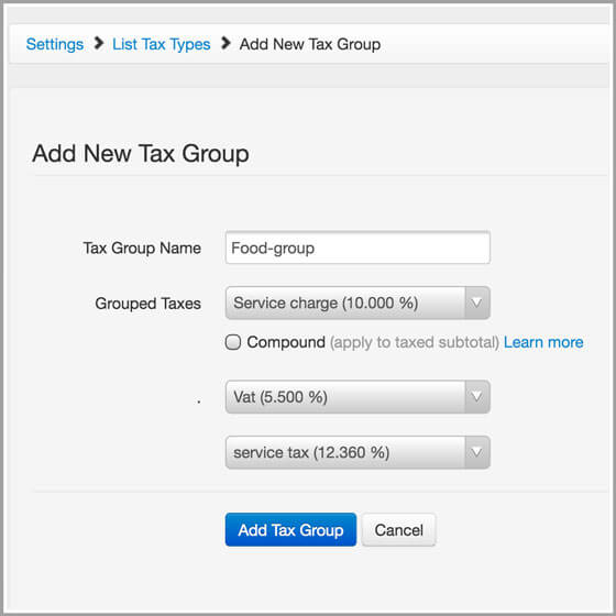 Tax Groups